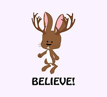 Believe! Cute Jackalope by Eggtooth