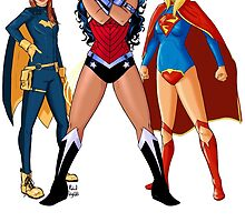Batgirl, Wonder Woman and Supergirl - The New 52 by RabidDog008