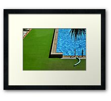 Swimming-pool Framed Print