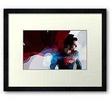 Man of steel Framed Print