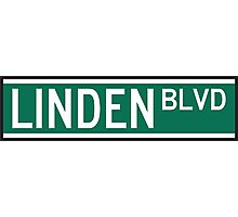 Linden Boulevard Sign Photographic Print