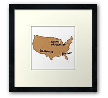 Ogdenville, North Haverbrook and Brockway Framed Print