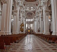 St Steven's Cathedral in Passau Germany by Keith Larby