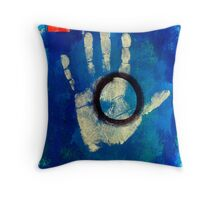 Health Hand Print Throw Pillow