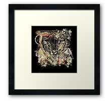 Bloody Cool Goat - Modern Grunge and Wicked Design Framed Print