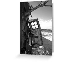 Door Ajar Greeting Card