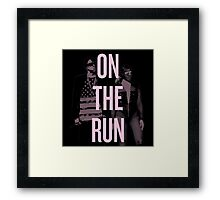 J + B On The Run (BEY Pink) Framed Print