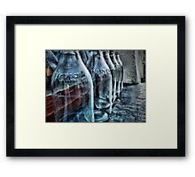 Milk bottles Framed Print