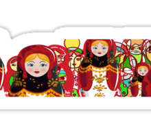 Matryoshka Babushka doll from Russia Sticker
