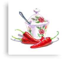 Hot Sweet Chili Peppers Canvas Print