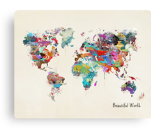 a beautiful world Canvas Print