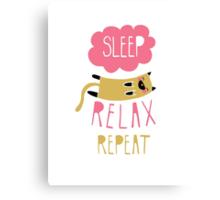Sleep, Relax, Repeat Canvas Print