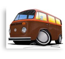 VW Bay Window Camper Van (F) Canvas Print