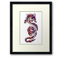 American Dragon Silhouette Framed Print