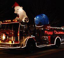 Merry Christmas Fire Truck by bunnij