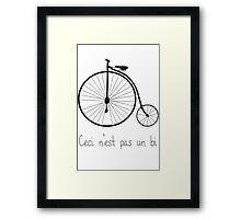 Dyke in bike Framed Print