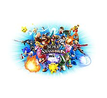 Smash Bros WII U QUEEN Size Duvet Cover-Other Sizes on my Page! (+Others!) Photographic Print