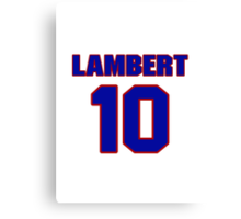 National Hockey player Denny Lambert jersey 10 Canvas Print