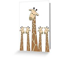 GIRAFFE PORTRAITS Greeting Card