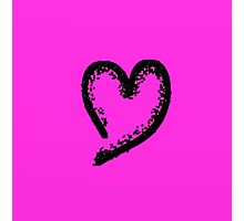 Black glitter heart Photographic Print