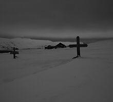 Deception Island Cemetery by Geoffrey Elliott