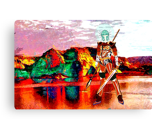 Female Warrior from New Earth - all products Canvas Print