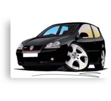 VW Golf GTi (Mk5) Black Canvas Print