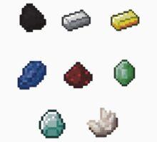 Minerals - Ore - Minecraft by Gaia Romei