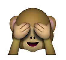 Emoji See No Evil Monkey Photographic Print