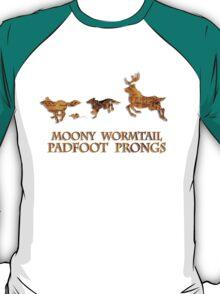 Harry Potter Marauder's Map: Moony, Wormtail, Padfoot & Prongs T-Shirt