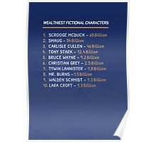 Top 10 Wealthiest fictional characters Poster