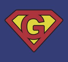 G letter in Superman style by Stock Image Folio