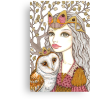 Sisterhood of the white owl Canvas Print