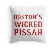 Boston Wicked Pissah Red Throw Pillow