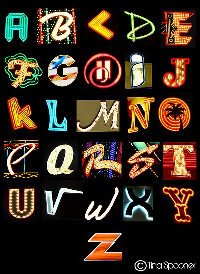 Las Vegas Alphabet by Tina &quot;Angel&quot; Spooner