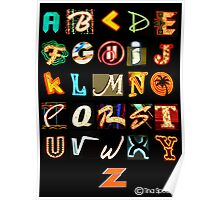 Las Vegas Alphabet Poster