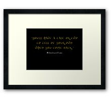A Tale or Two Framed Print
