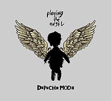 Depeche Mode : Playing the Angel - Wings - Black by Luc Lambert