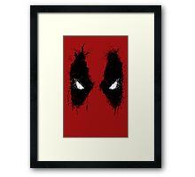 Deadpool eyes  Framed Print