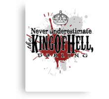 King of Hell Canvas Print