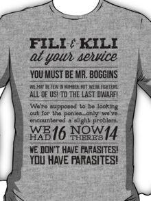 [The Hobbit] Fili & Kili (Dark text) T-Shirt