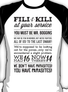 [The Hobbit] Fili & Kili (Dark text) T-Shirt
