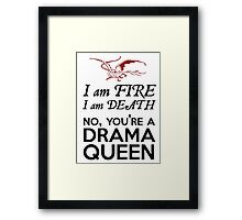 [The Hobbit] - Drama Queen Smaug Framed Print