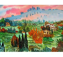 Village In Tuscany Photographic Print