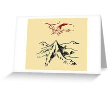[The Hobbit] - Lonely Mountain (Light) Greeting Card