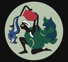 Retro Seventies Zodiac Aquarius by Danielle Kerese