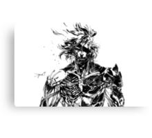 Metal Gear Rising Raiden Black and White Canvas Print