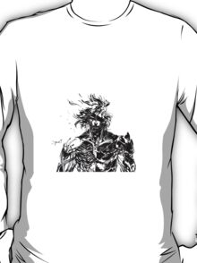 Metal Gear Rising Raiden Black and White T-Shirt