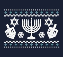 Funny Hanukkah Ugly Holiday Sweater by robotface