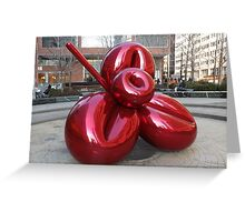 Sculpture and Reflection, Jeff Koons, Artist, Lower Manhattan, New York City Greeting Card